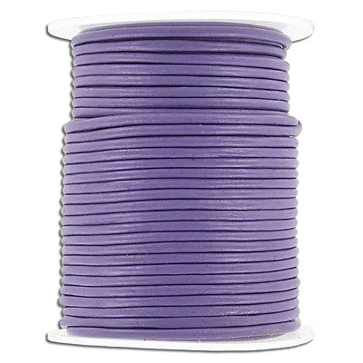 Round leather cord, 1.5mm, purple, 25 meters