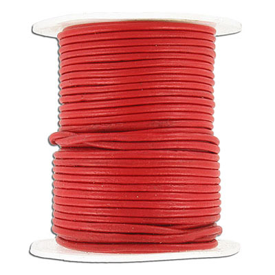 Cord leather 1.5mm diameter 100 metres red
