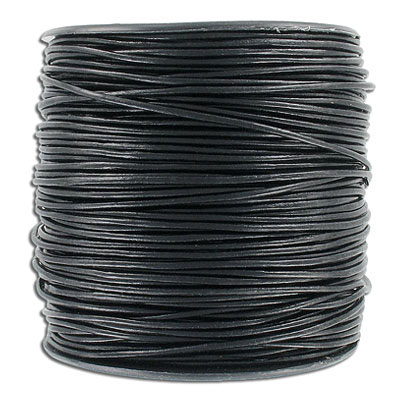 Cord leather 1.5mm diameter 100 metres black