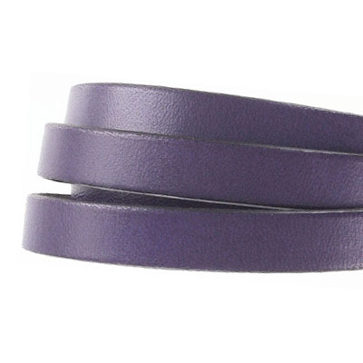 Flat Regaliz leather cord, 10x2mm, purple, pack of 1 meters
