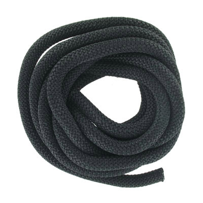 Climbing cord, 10mm, polyester, black, pack of 3 meters. Made in Europe