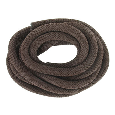 Climbing cord, 10mm, polyester, brown, pack of 3 meters. Made in Europe