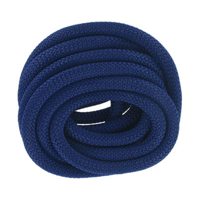 Climbing cord, 10mm, polyester, dark blue, pack of 3 meters. Made in Europe