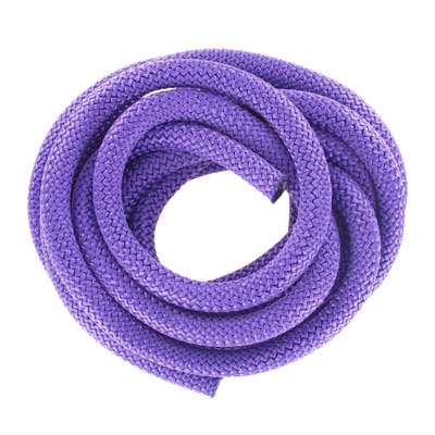 Climbing cord, 10mm, polyester, dark purple, pack of 3 meters. Made in Europe