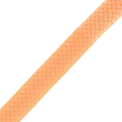 Climbing cord, 10mm, polyester, peach, pack of 3 meters. Made in Europe