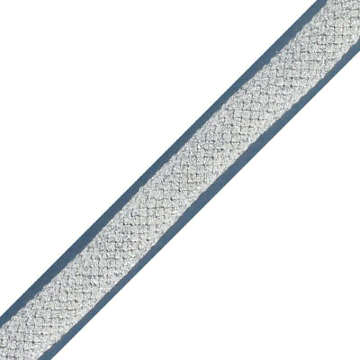 Climbing cord, 10mm, polyester, metallic silver, pack of 3 meters. Made in Europe