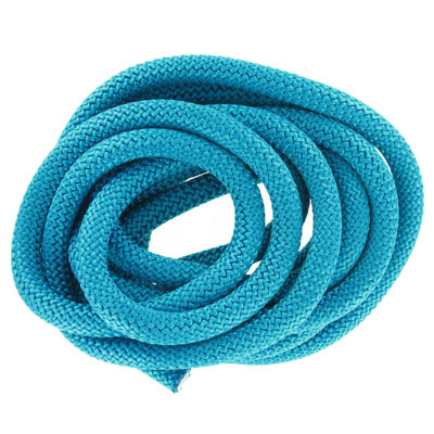 Climbing cord, 10mm, polyester, teal, pack of 3 meters. Made in Europe
