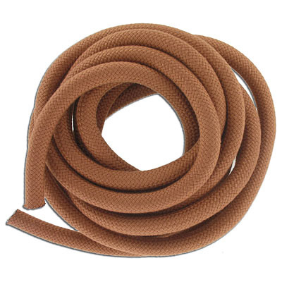 Climbing cord, 10mm, polyester, terracotta, pack of 3 meters. Made in Europe