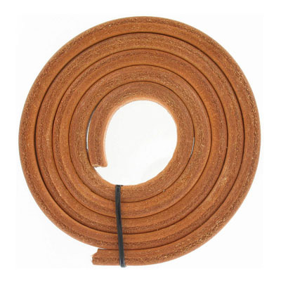 Regaliz leather cord, oval, 10x6mm, natural,  pack of 1 meter