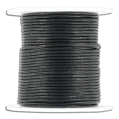 Cord leather 1mm diameter 25 metres black