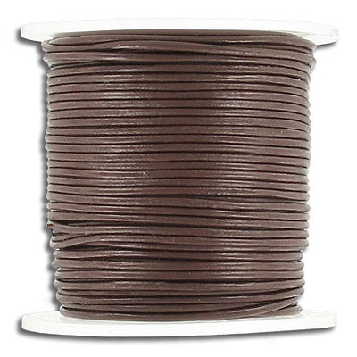 Cord leather 1mm diameter 25 metres brown
