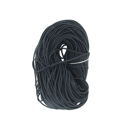 Stretch cord, 1mm, black, 50 yards in pack