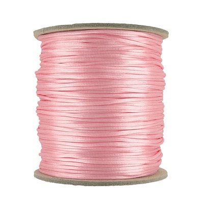 Cord rattail size 1, 131.7 metres (144 yards) light pink