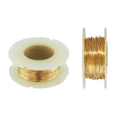 Wire 24 gauge (0.5mm), 1oz, gold filled, gold plate