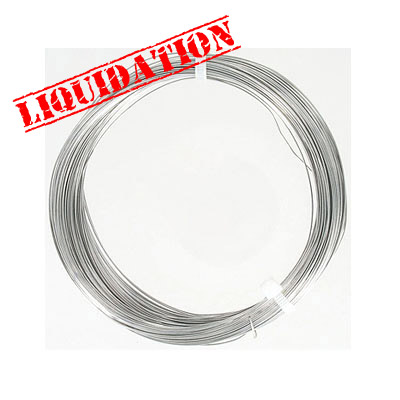 Wire 26 gauge (0.4mm) 27.4 metres (30 yards) copper core with silver plate