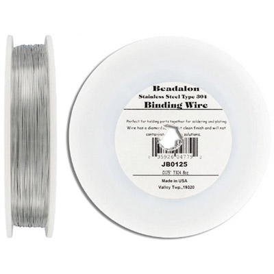 Wire 28 gauge, approx. 1165', stainless steel
