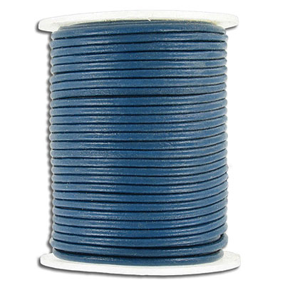 Cord leather 2mm diameter 25 metres blue