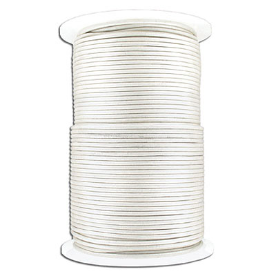 Leather cord, 2mm, pearl finish, 100 meters