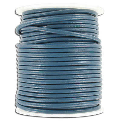 Cord leather 3mm diameter 25 metres blue