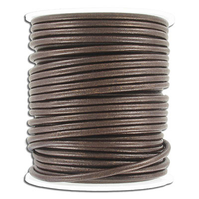 Leather cord, 3mm, gauriya, 25 meters