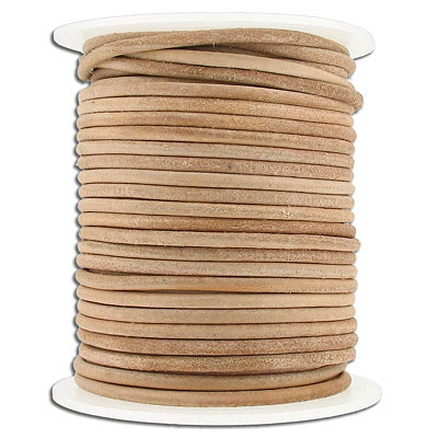Cord leather 3mm diameter 25 metres natural