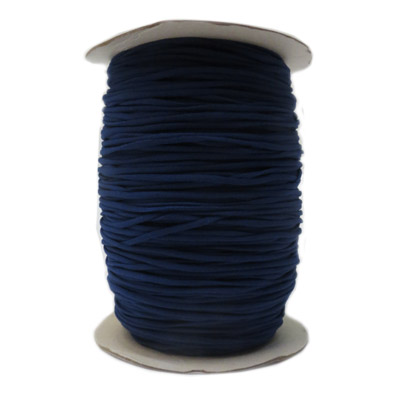 Stretch elastic fabric cord, 3mm round, blue, 2x250 meters spool