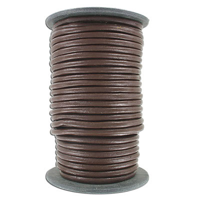 Cord leather 5mm diameter 10 metres brown