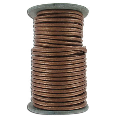 Round leather cord, 5mm, gauriya, 25 meters