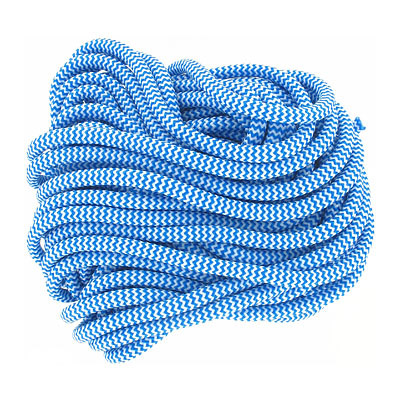 Climbing cord, 5mm, polyester, semi-soft, bue and white, pack of 10 meters. Made in Europe