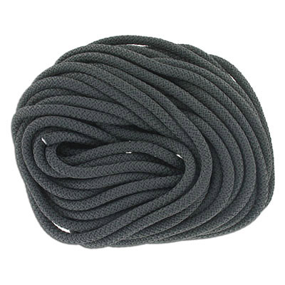 Climbing cord, 5mm, polyester, semi-soft, dark grey, pack of 10 meters. Made in Europe