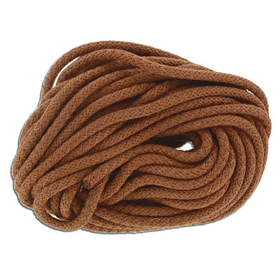 Climbing cord, 5mm, polyester, semi-soft, terra, pack of 10 meters. Made in Europe