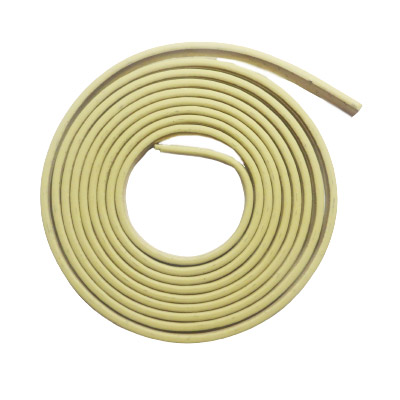 Faux leather cords, 5x2mm, metallic gold, 1m 20cm each cord