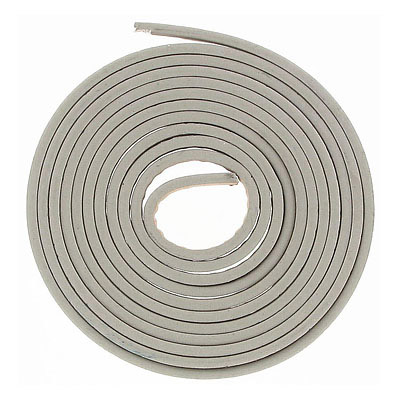 Faux leather cords, 5x2mm, reflective grey, 1m 20cm each cord