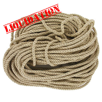 Twisted rope, 6mm, beige, 25 meters