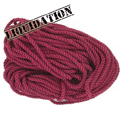 Twisted rope, 6mm, burgundy, 25 meters