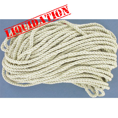 Twisted rope, 6mm, champagne, 25 meters