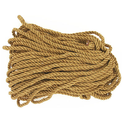 Twisted polyester rope, 6mm, gold, 100 metres