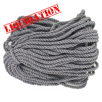 Twisted rope, 6mm, grey, 25 meters