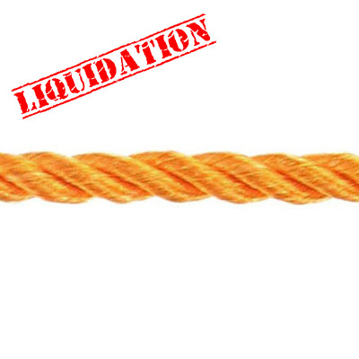 Twisted rope, 6mm, orange, 25 meters