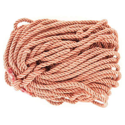 Twisted rope, 6mm, salmon, 25 meters