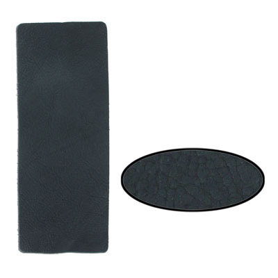 Leather trim, 9x3 inch, black