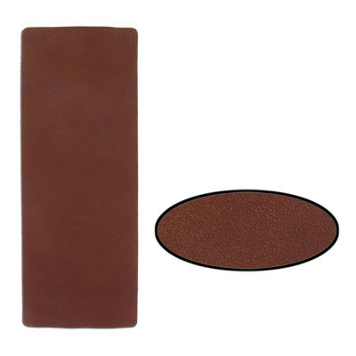 Leather trim, 9x3 inch, brown