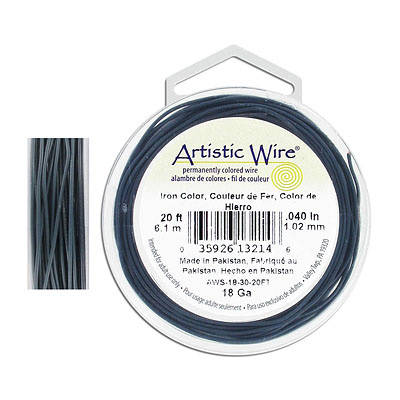 Artistic wire, 18 gauge, iron, 20 feet
