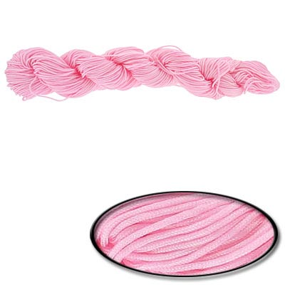 Chinese knotting cord, 0.8mm, pink, 82 yards