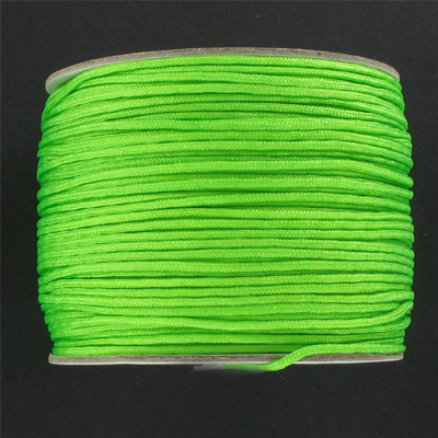 Chinese knotting cord, fluorescent green, 1.2mm, 100 meters