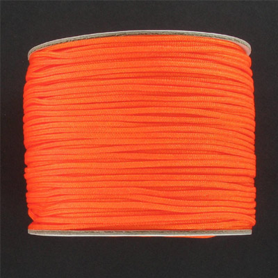 Chinese knotting cord, fluorescent orange, 1.2mm, 100 meters