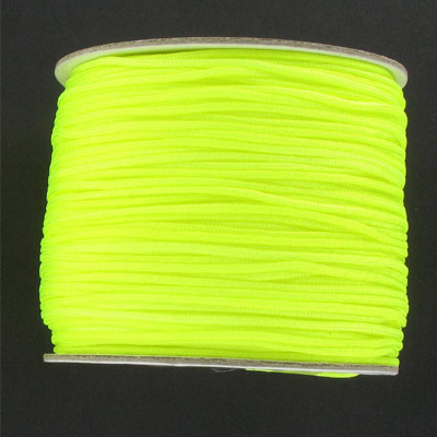 Chinese knotting cord, fluorescent yellow, 1.2mm, 100 meters
