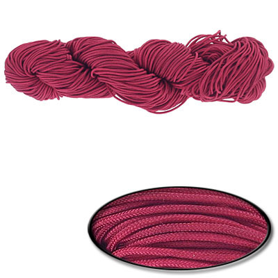 Chinese knotting cord, 1.2mm, garnet, 82 yards