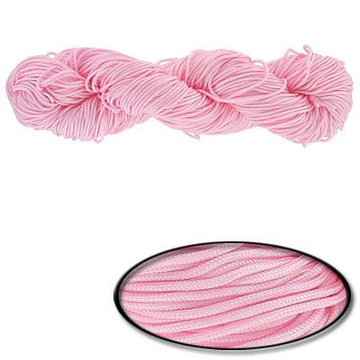 Chinese knotting cord, 1.2mm, pink, 82 yards
