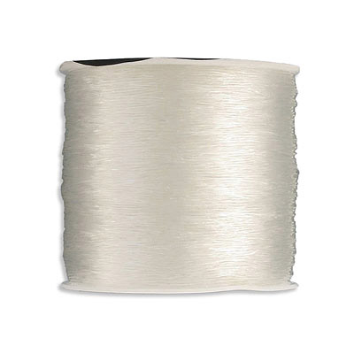 Korean elastic cord, 0.5mm, transparent, 100 meters